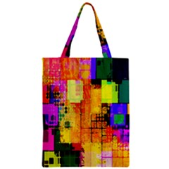 Abstract Squares Background Pattern Zipper Classic Tote Bag by Nexatart