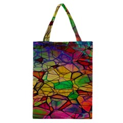 Abstract Squares Triangle Polygon Classic Tote Bag by Nexatart
