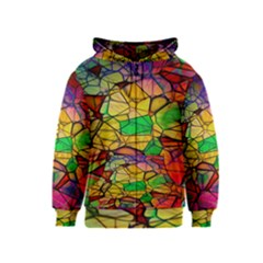 Abstract Squares Triangle Polygon Kids  Zipper Hoodie