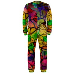 Abstract Squares Triangle Polygon Onepiece Jumpsuit (men)