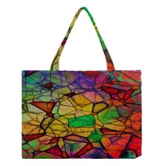 Abstract Squares Triangle Polygon Medium Tote Bag by Nexatart