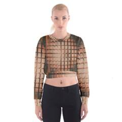 Abstract Texture Background Pattern Women s Cropped Sweatshirt by Nexatart