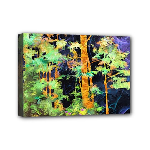 Abstract Trees Flowers Landscape Mini Canvas 7  X 5