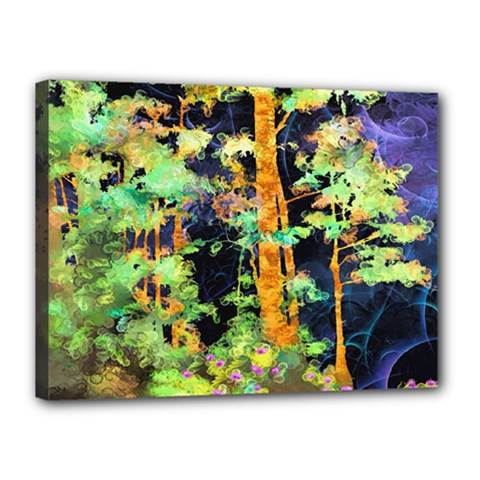 Abstract Trees Flowers Landscape Canvas 16  X 12  by Nexatart
