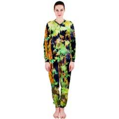 Abstract Trees Flowers Landscape OnePiece Jumpsuit (Ladies)
