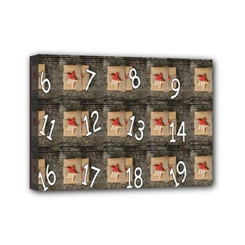 Advent Calendar Door Advent Pay Mini Canvas 7  X 5