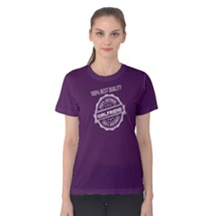 Purple 100% Natural Girlfriend Women s Cotton Tee by FunnySaying