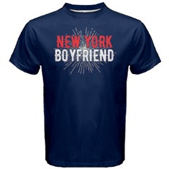 New York Boyfriend   Men s Cotton Tee by FunnySaying