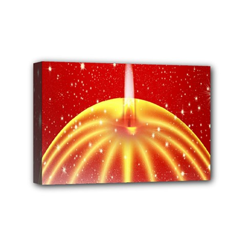 Advent Candle Star Christmas Mini Canvas 6  X 4