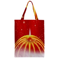Advent Candle Star Christmas Zipper Classic Tote Bag