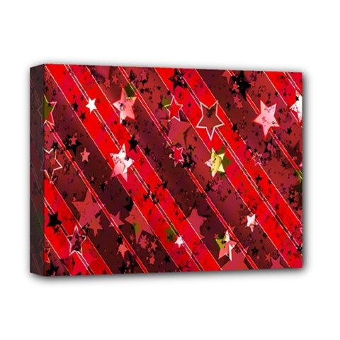 Advent Star Christmas Poinsettia Deluxe Canvas 16  X 12