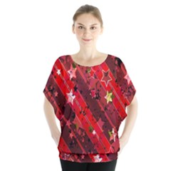 Advent Star Christmas Poinsettia Blouse by Nexatart