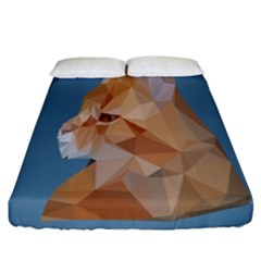 Animals Face Cat Fitted Sheet (california King Size) by Alisyart