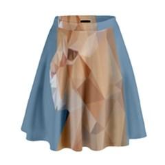 Animals Face Cat High Waist Skirt by Alisyart