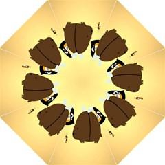 Bear Meet Bee Honey Animals Yellow Brown Straight Umbrellas by Alisyart