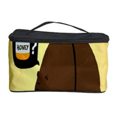 Bear Meet Bee Honey Animals Yellow Brown Cosmetic Storage Case