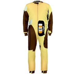 Bear Meet Bee Honey Animals Yellow Brown Onepiece Jumpsuit (men)