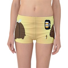 Bear Meet Bee Honey Animals Yellow Brown Reversible Bikini Bottoms