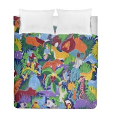 Animated Safari Animals Background Duvet Cover Double Side (full/ Double Size) by Nexatart
