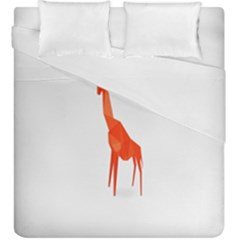Animal Giraffe Orange Duvet Cover Double Side (king Size)