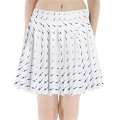 Arrows Blue Pleated Mini Skirt