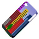 City Skyscraper Buildings Color Car Orange Yellow Blue Green Brown Apple iPhone 4/4S Hardshell Case (PC+Silicone) View4