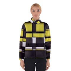 Color Geometry Shapes Plaid Yellow Black Winterwear by Alisyart