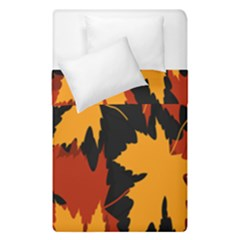 Dried Leaves Yellow Orange Piss Duvet Cover Double Side (single Size) by Alisyart