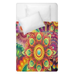 Colorful Abstract Flower Floral Sunflower Rose Star Rainbow Duvet Cover Double Side (single Size)