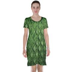 Circle Square Green Stone Short Sleeve Nightdress by Alisyart