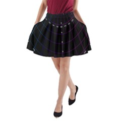 Formula Number Line Purple Natural A Line Pocket Skirt by Alisyart
