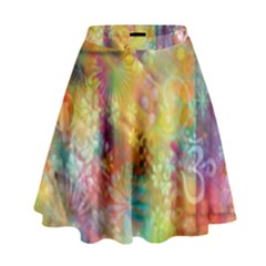 Rainbow Spirit High Waist Skirt by KirstenStar