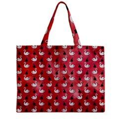 Goose Swan Hook Red Zipper Mini Tote Bag by Alisyart