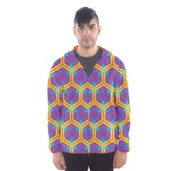 Yellow Honeycombs Pattern                                                          Mesh Lined Wind Breaker (men)