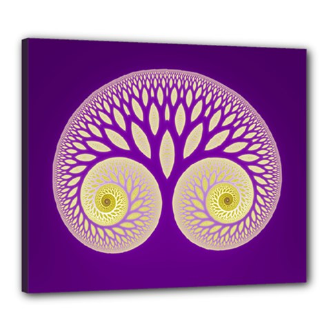 Glynnset Royal Purple Canvas 24  X 20  by Alisyart