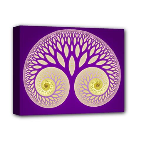 Glynnset Royal Purple Deluxe Canvas 14  X 11  by Alisyart