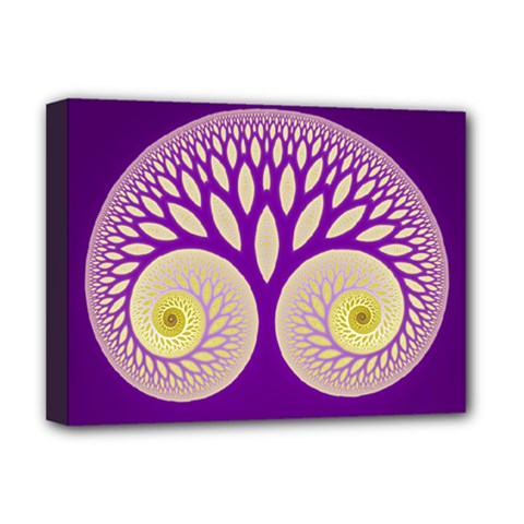 Glynnset Royal Purple Deluxe Canvas 16  X 12   by Alisyart