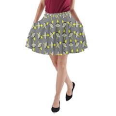 Illusory Motion Of Each Grain Arrow Grey A Line Pocket Skirt