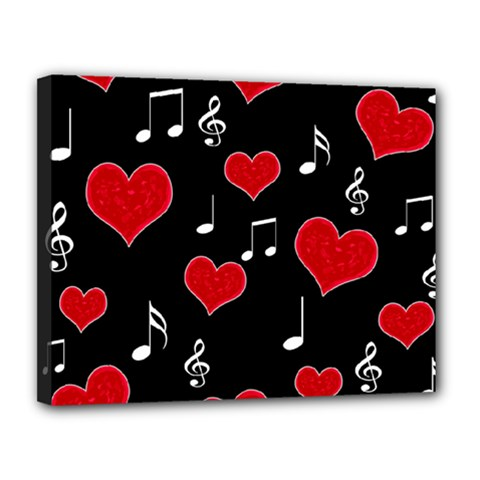 Love Song Canvas 14  X 11  by Valentinaart