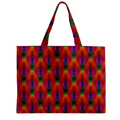 Apophysis Fractal Owl Neon Zipper Mini Tote Bag by Nexatart