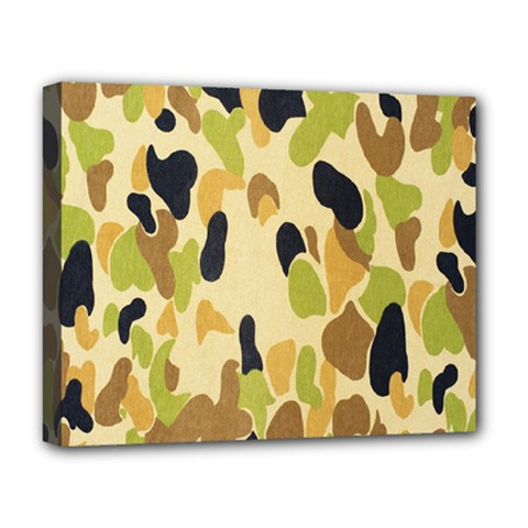 Army Camouflage Pattern Deluxe Canvas 20  X 16   by Nexatart