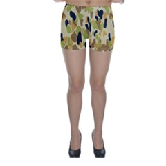 Army Camouflage Pattern Skinny Shorts