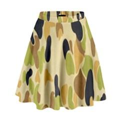 Army Camouflage Pattern High Waist Skirt by Nexatart