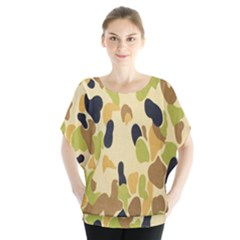 Army Camouflage Pattern Blouse by Nexatart
