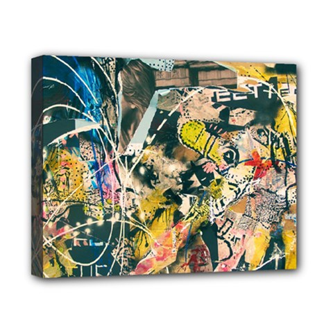 Art Graffiti Abstract Vintage Canvas 10  X 8  by Nexatart