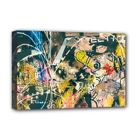 Art Graffiti Abstract Vintage Deluxe Canvas 18  X 12   by Nexatart