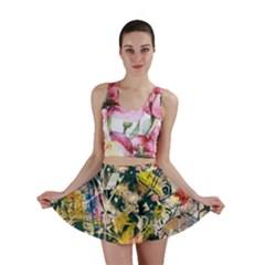 Art Graffiti Abstract Vintage Mini Skirt by Nexatart