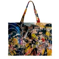 Art Graffiti Abstract Vintage Zipper Mini Tote Bag by Nexatart
