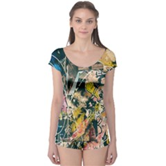 Art Graffiti Abstract Vintage Boyleg Leotard  by Nexatart
