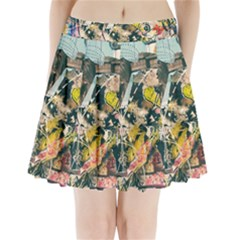 Art Graffiti Abstract Vintage Pleated Mini Skirt by Nexatart